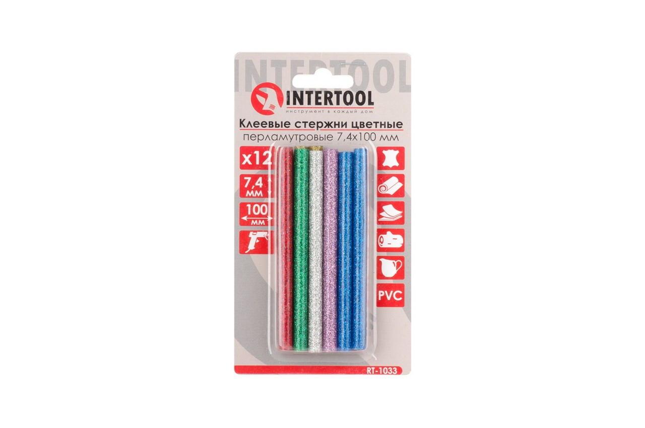 Клеевые стержни Intertool - 7,4 x 100 мм цветные перламутровые (12 шт.) 4