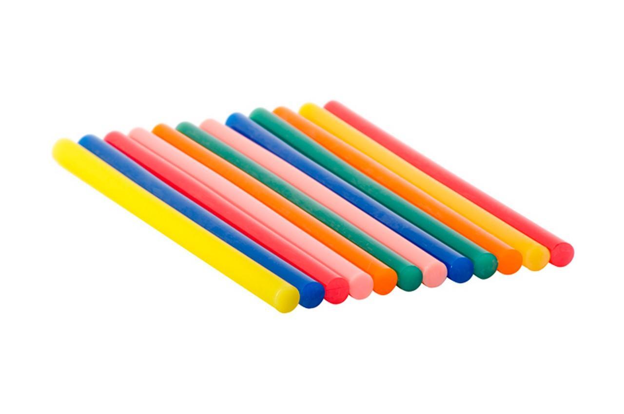 Клеевые стержни Intertool - 11,2 x 200 мм цветные (12 шт.) 1