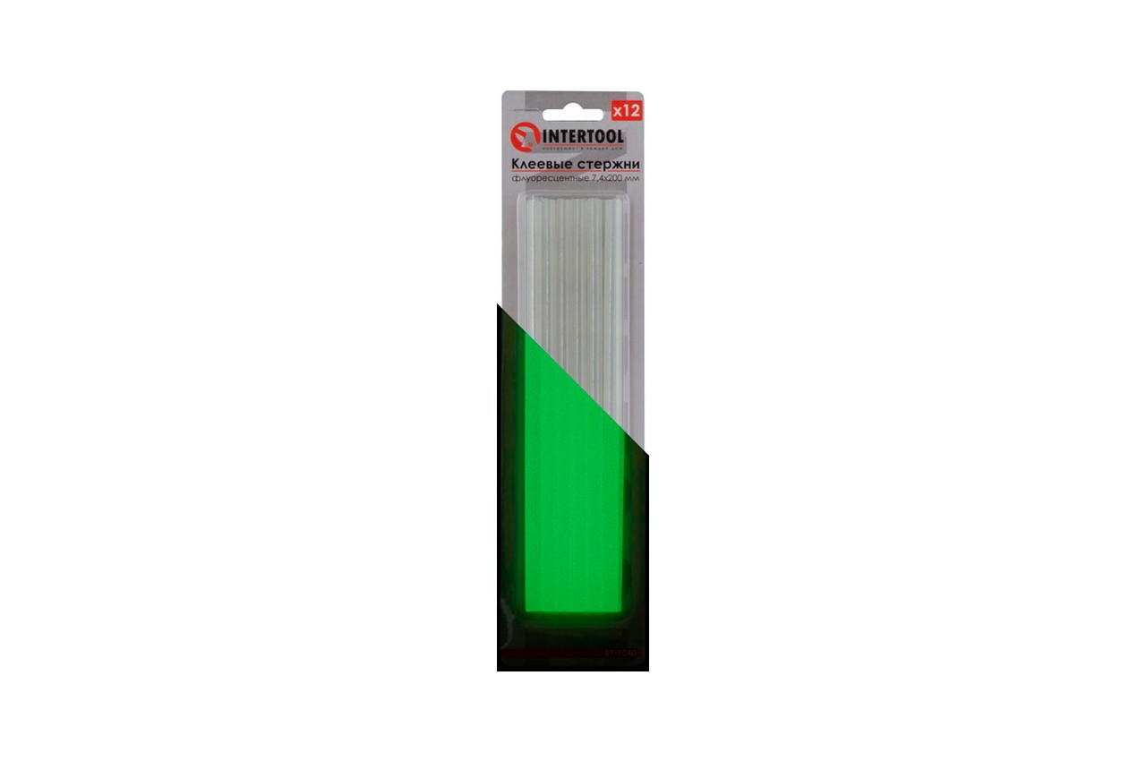 Клеевые стержни Intertool - 7,4 x 200 мм флуоресцентные (12 шт.) 3