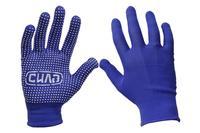 Перчатки Сила - нейлон с точкой синие 9