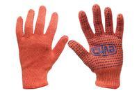 Перчатки Сила - х/б с точкой 50 г оранжевые 10