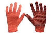 Перчатки Сила - х/б с точкой 70 г оранжевые 10
