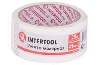 Лента малярная Intertool - 48 мм x 20 м белая
