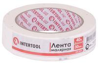 Лента малярная Intertool - 30 мм x 40 м белая