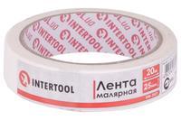 Лента малярная Intertool - 25 мм x 20 м белая
