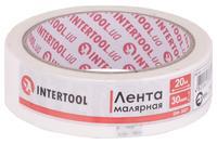 Лента малярная Intertool - 30 мм x 20 м белая