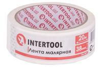 Лента малярная Intertool - 38 мм x 20 м белая