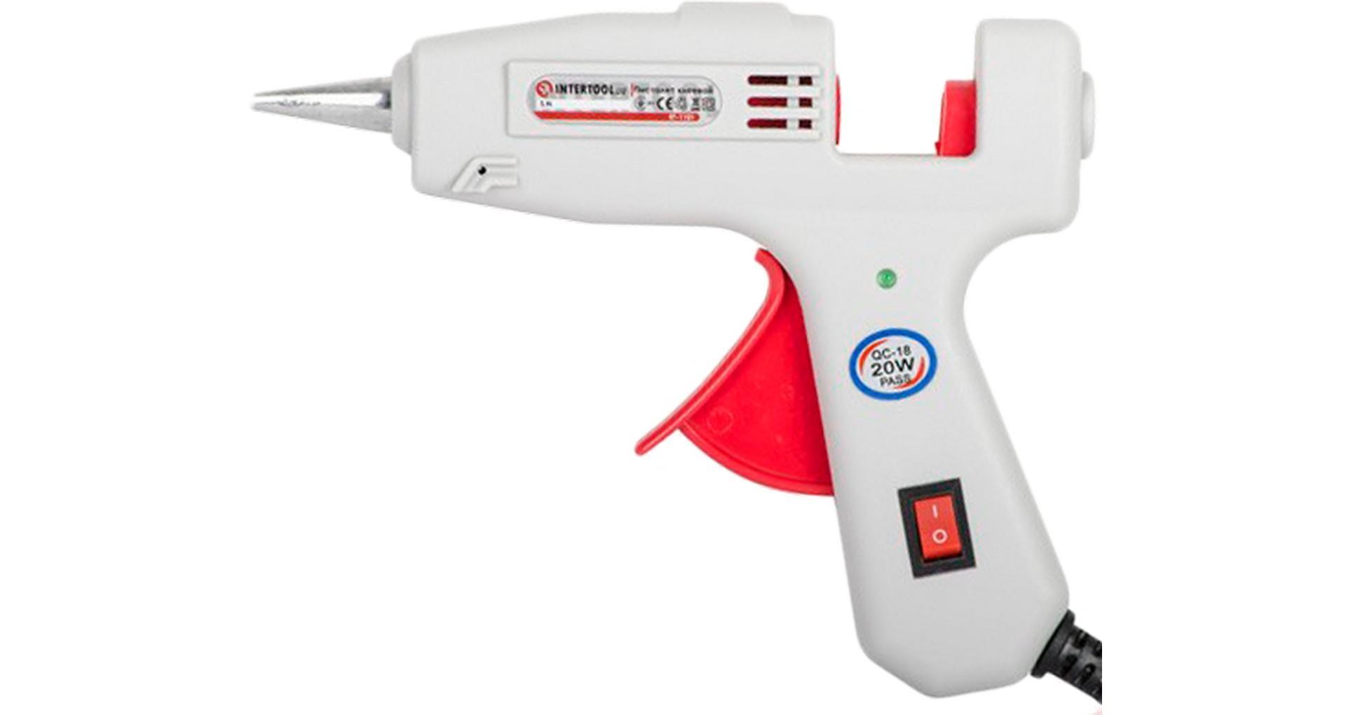 Пистолет клеевой Intertool - 7,2 мм x 20 Вт 6