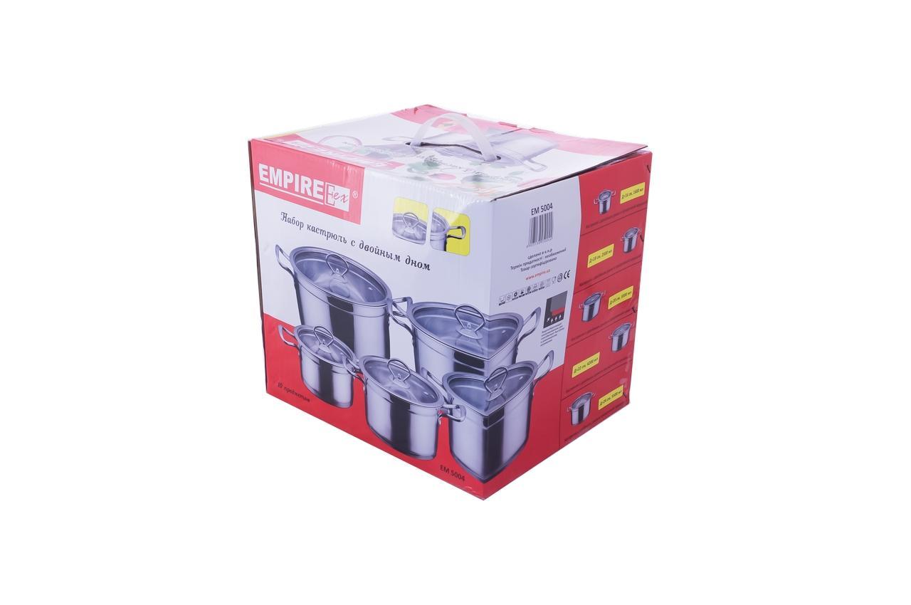 Набор посуды нержавеющий Empire - 2,5 x 2,6 x 3,3 x 4,2 x 5,5 л (5 шт.) 2