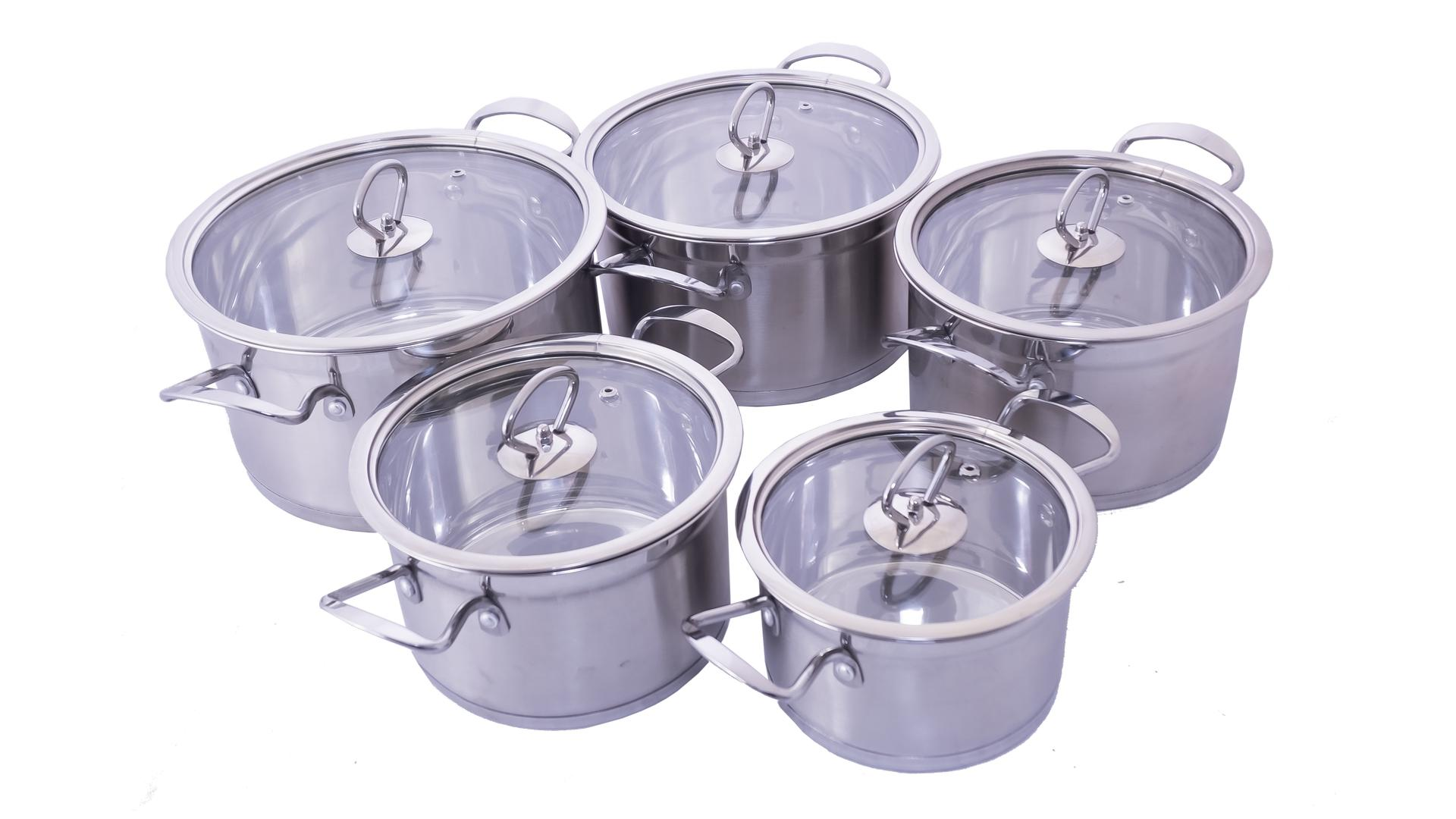 Набор посуды нержавеющий Empire - 2,5 x 2,6 x 3,3 x 4,2 x 5,5 л (5 шт.) 3