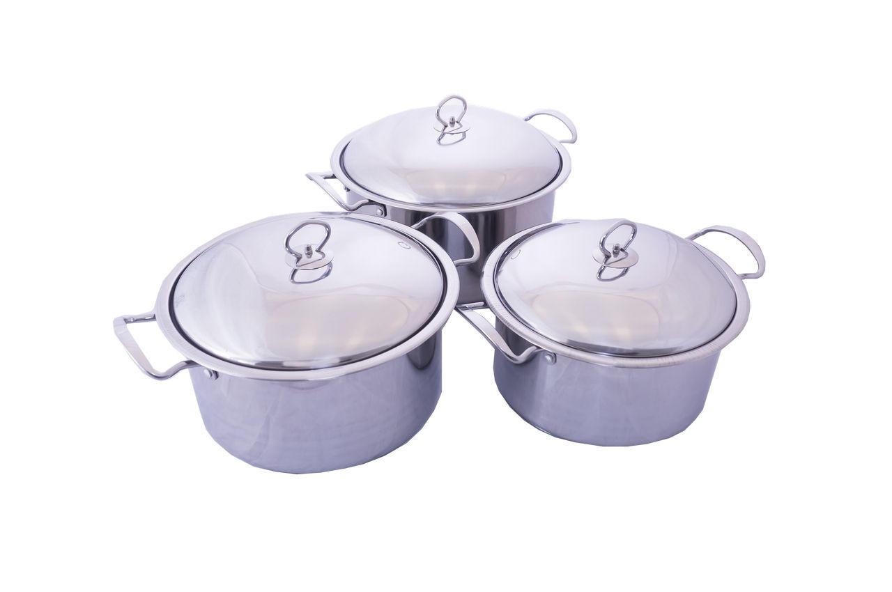 Набор посуды нержавеющий Empire - 6 x 7 x 8 л (3 шт.) 1