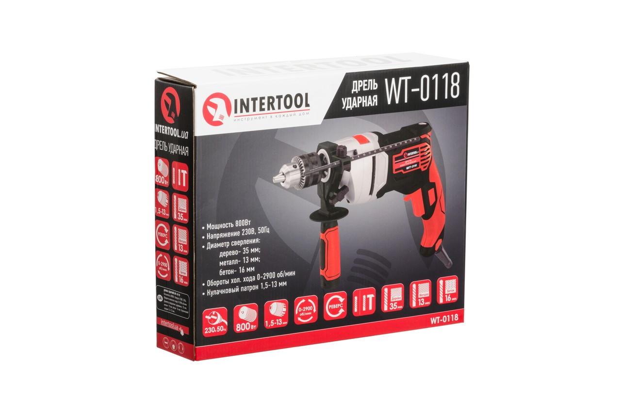 Дрель ударная Intertool - 800 Вт 5