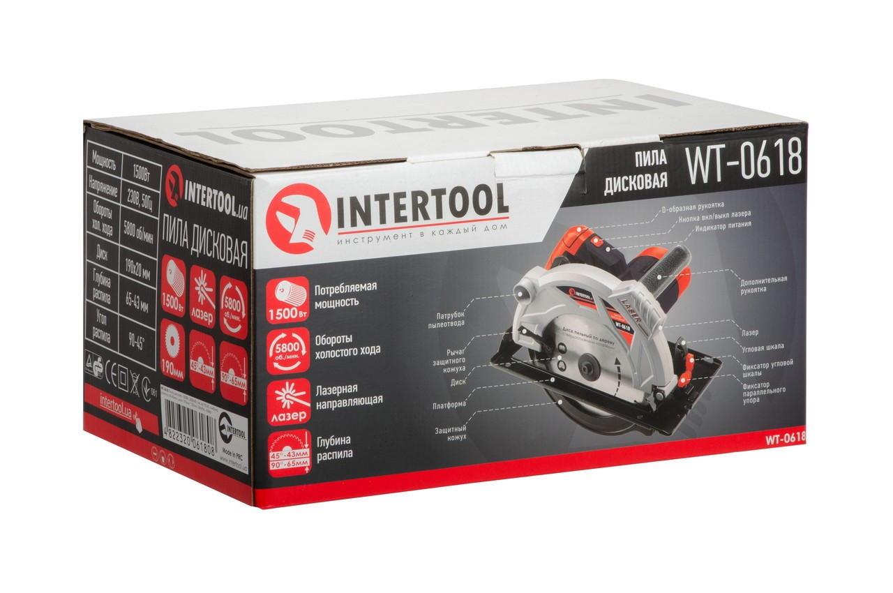 Пила циркулярная Intertool - 1500 Вт 6
