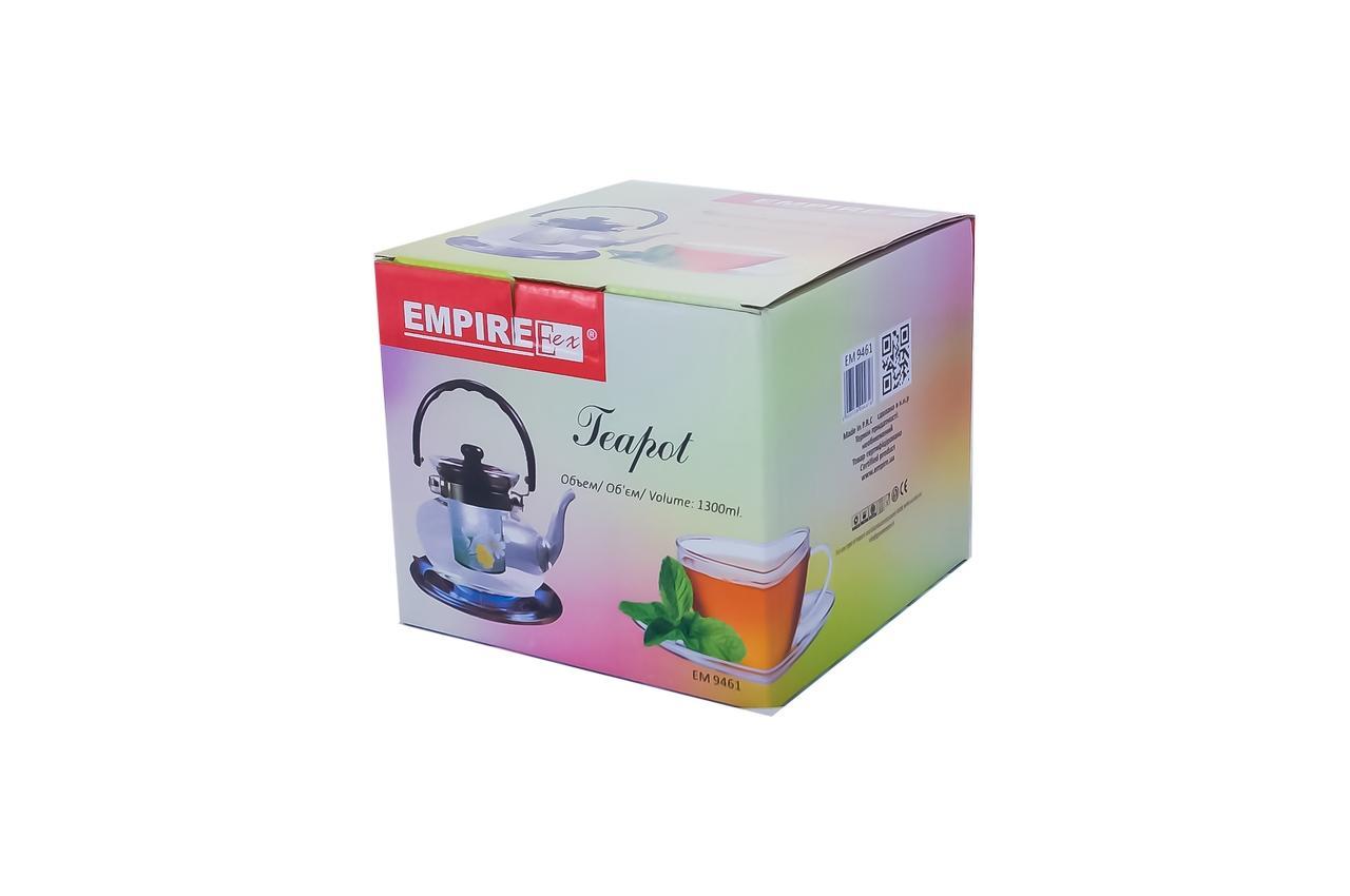 Чайник заварочный Empire - 1300 мл, огнеупорный 3