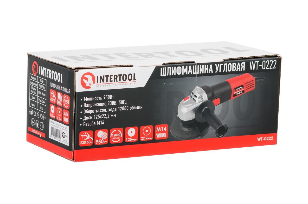 Угловая шлифмашина Intertool - 950 Вт x 125 мм 6