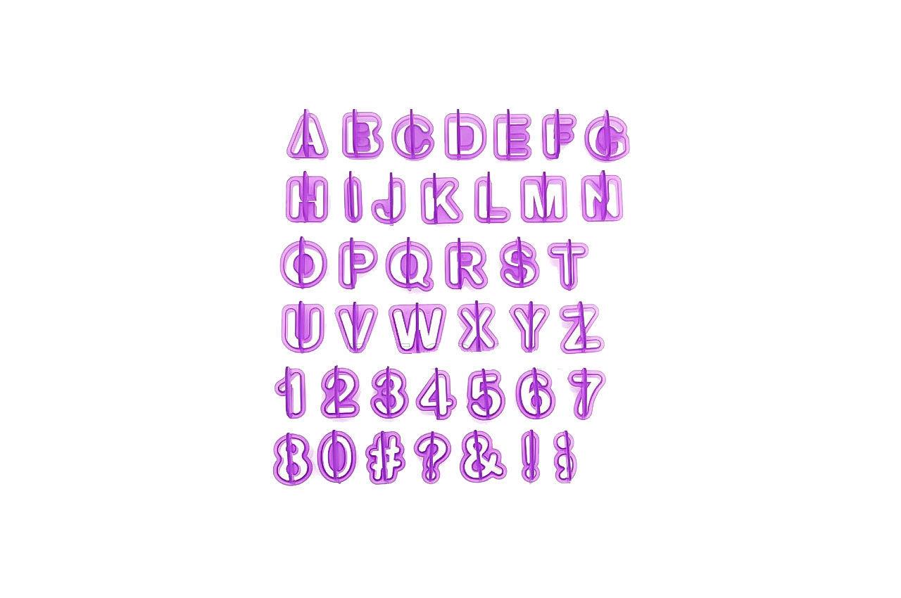 Набор форм для печенья Empire - алфавит и цифры (41 шт.) 1