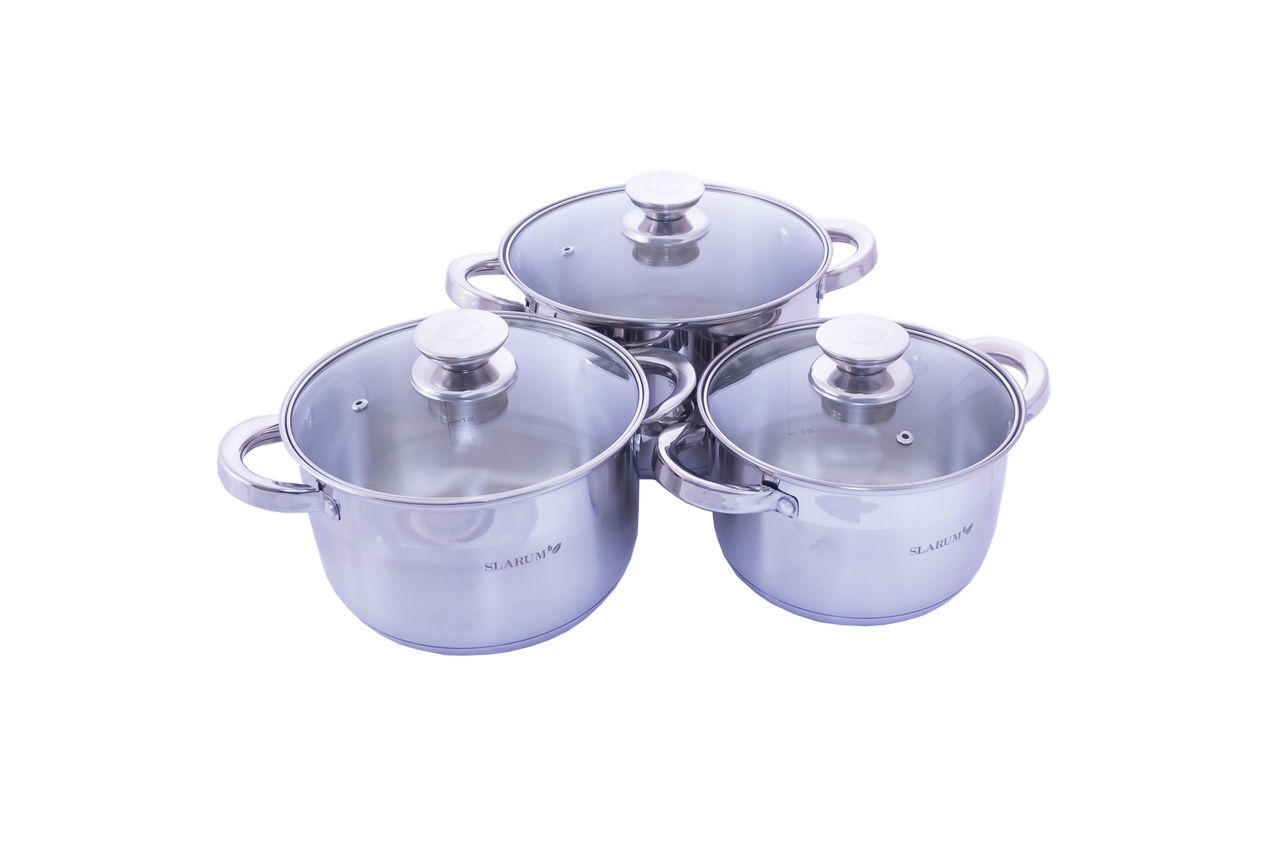 Набор посуды нержавеющий Slarum - 3шт (2 x 3 x 4л) 1