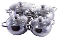 Набор посуды нержавеющий Astor - 1,9 x 2,6 x 3,9 x 6,9 (4 шт.)