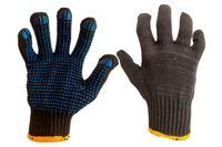 Перчатки Mastertool - х/б с точкой 83г черные 10