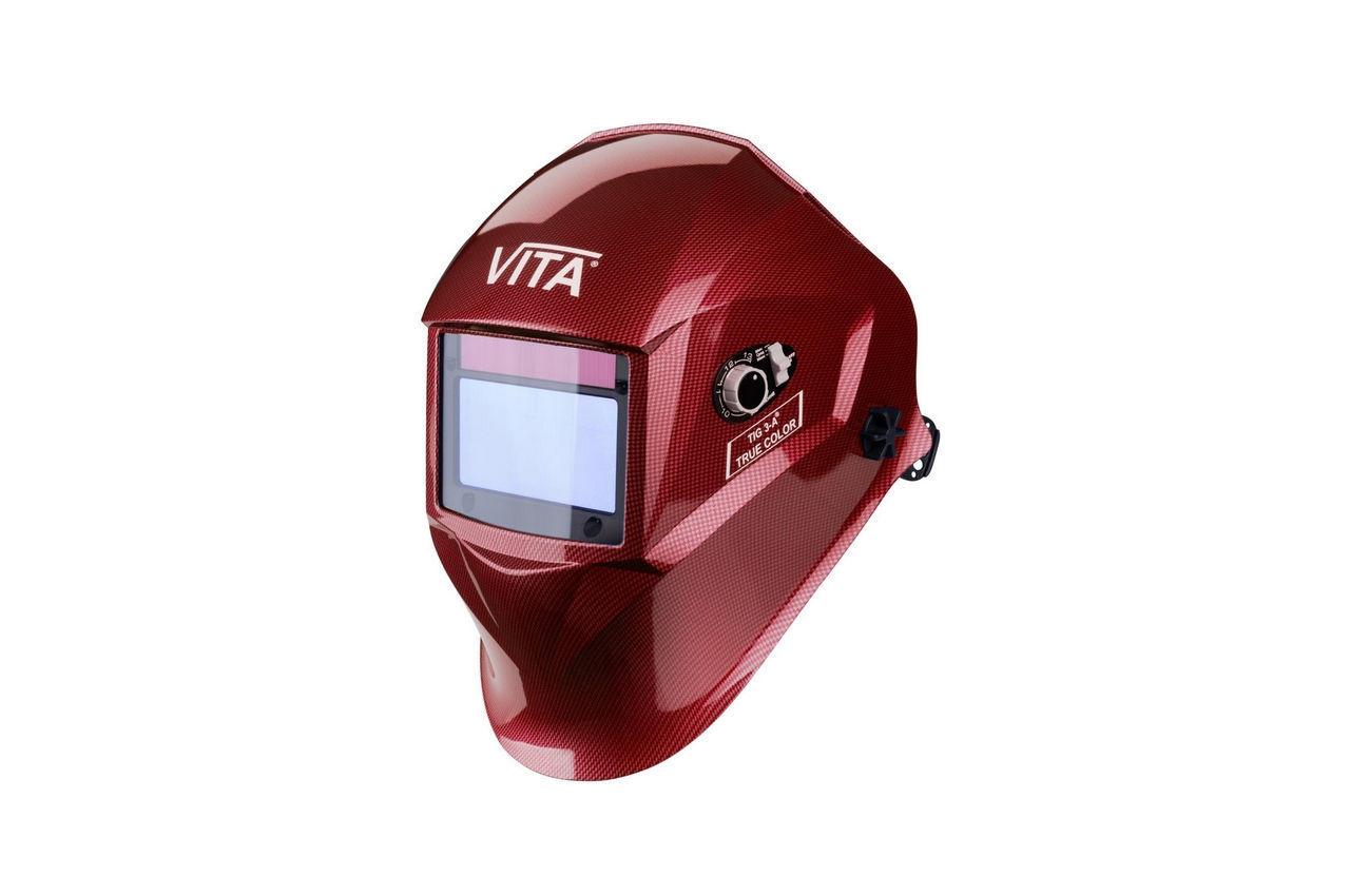 Маска сварочная Vita - TIG 3-A TrueColor, красная 1