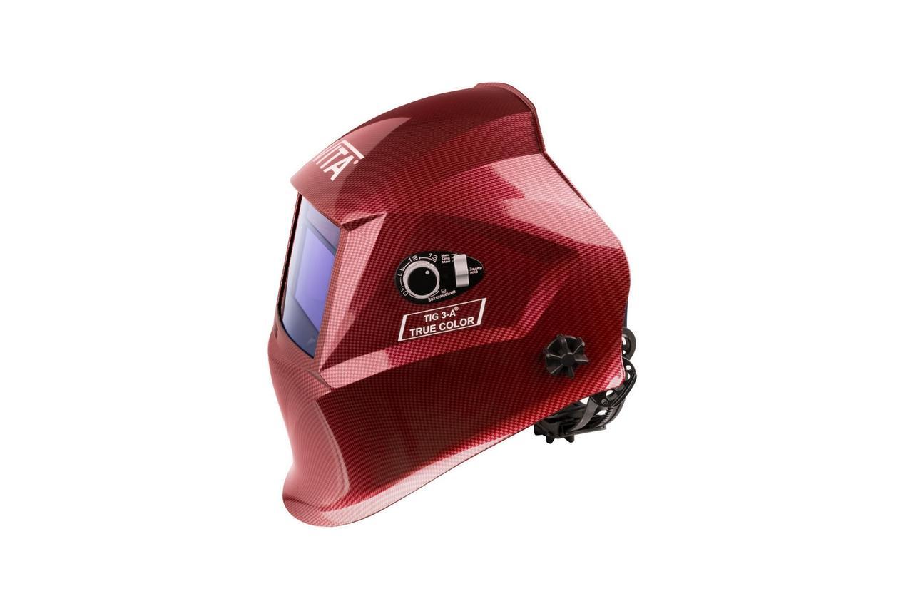 Маска сварочная Vita - TIG 3-A TrueColor, красная 2