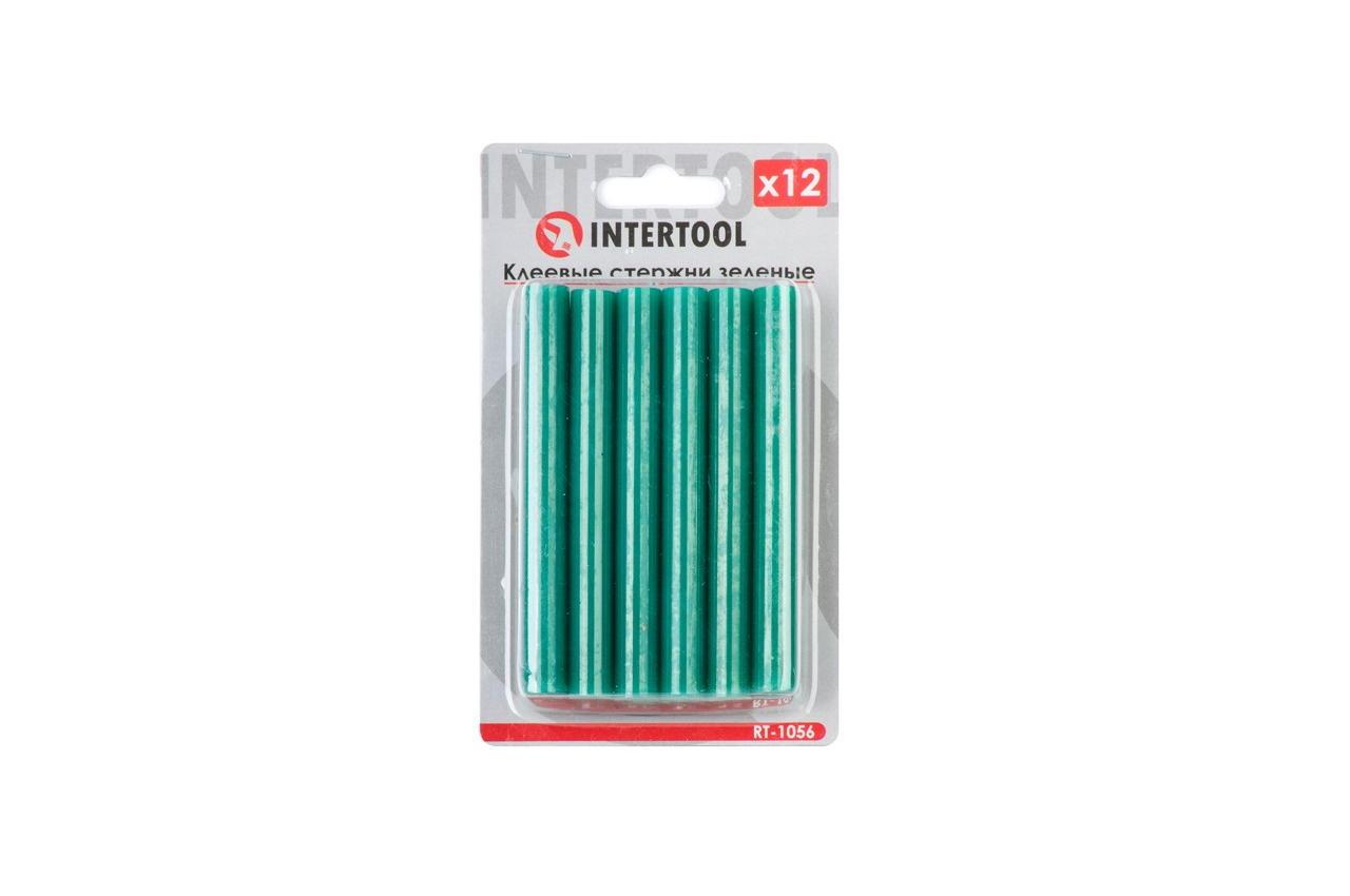 Клеевые стержни Intertool - 11,2 x 100 мм, зеленые (12 шт.) 1