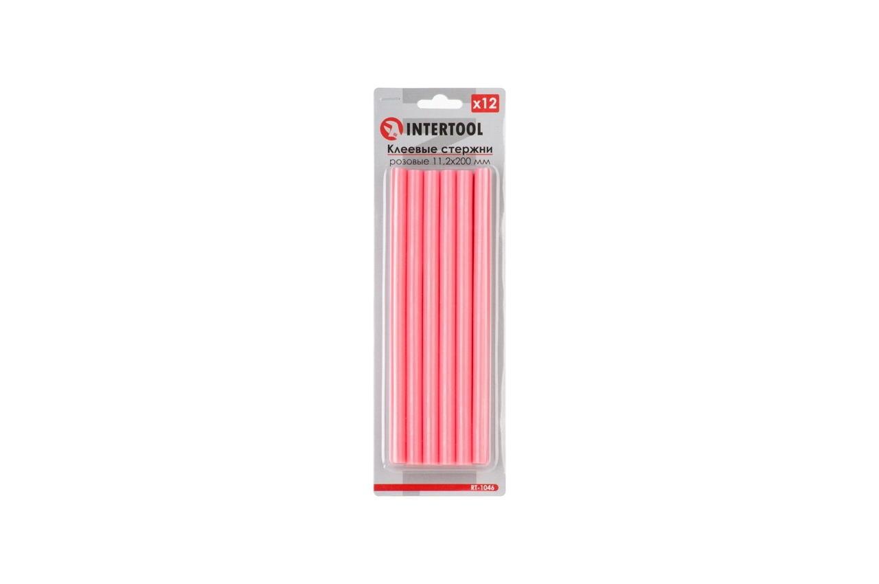 Клеевые стержни Intertool - 7,4 x 200 мм, розовые (12 шт.) 1