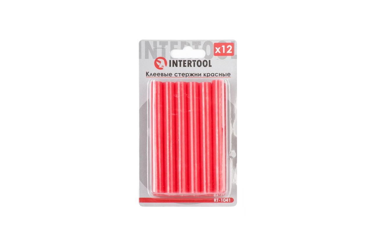 Клеевые стержни Intertool - 11,2 x 100 мм, красные (12 шт.) 1