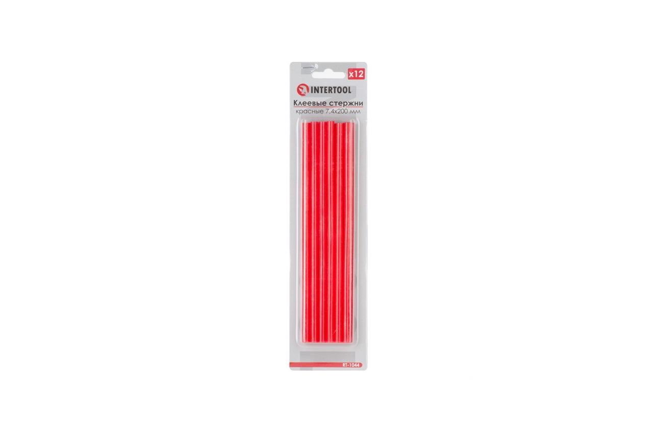 Клеевые стержни Intertool - 7,4 x 200 мм, красные (12 шт.) 1