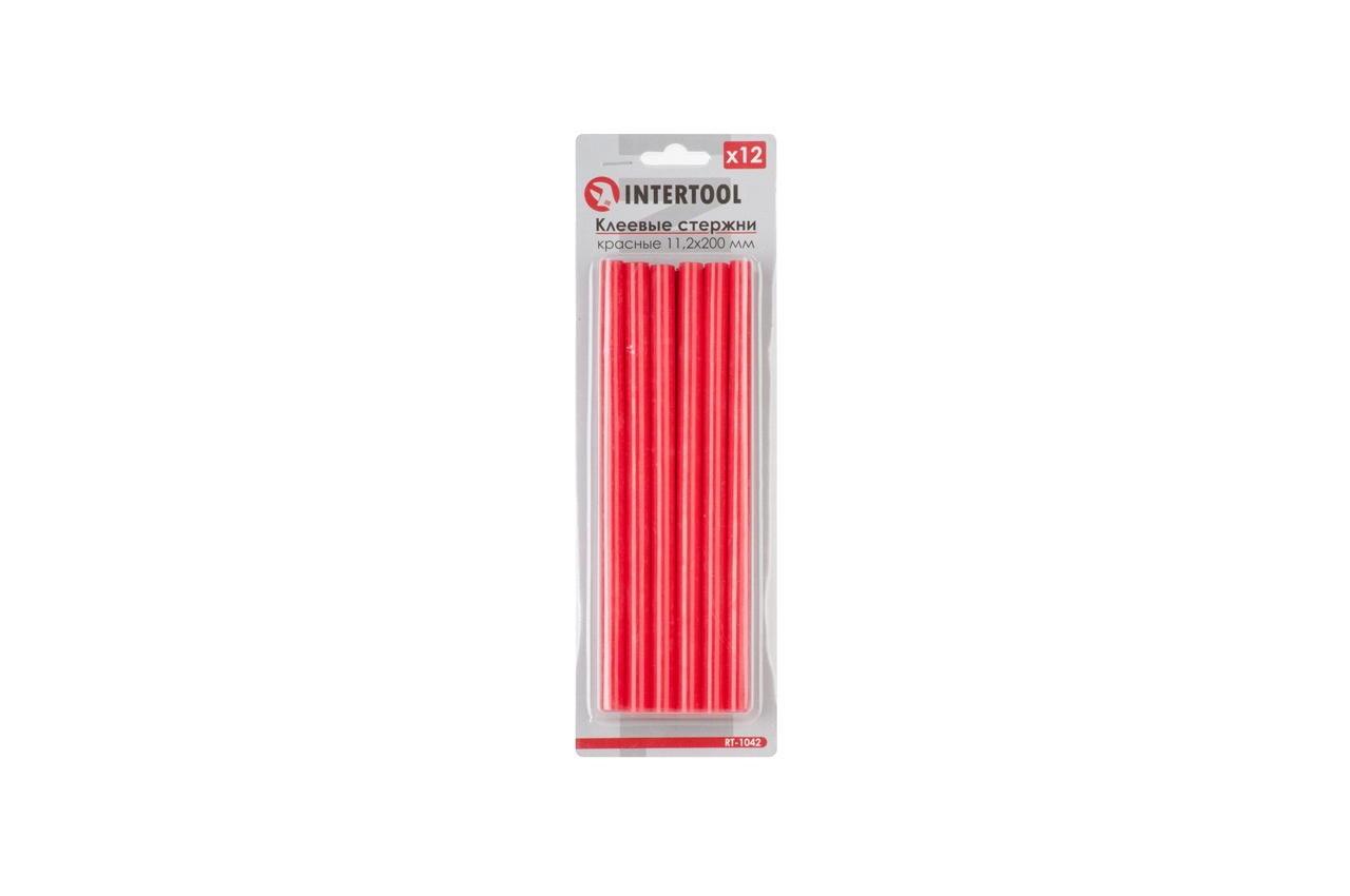 Клеевые стержни Intertool - 11,2 x 200 мм, красные (12 шт.) 1