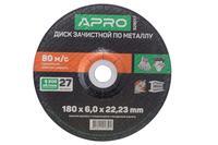 Диск зачистной по металлу Apro - 180 х 6 х 22,2 мм