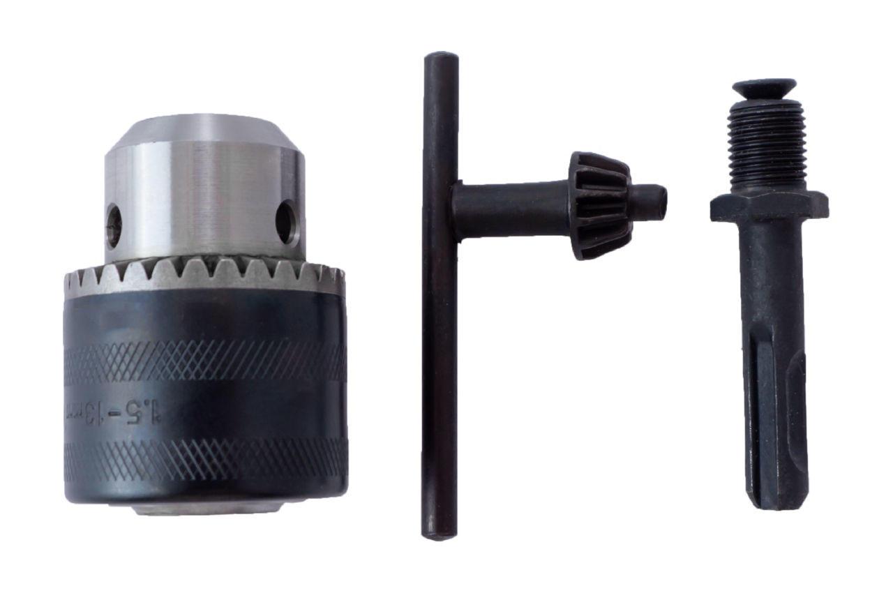 Патрон для дрели с ключем Асеса - 1/2 x 20 (1,5-13 мм) с переходником SDS+ 3