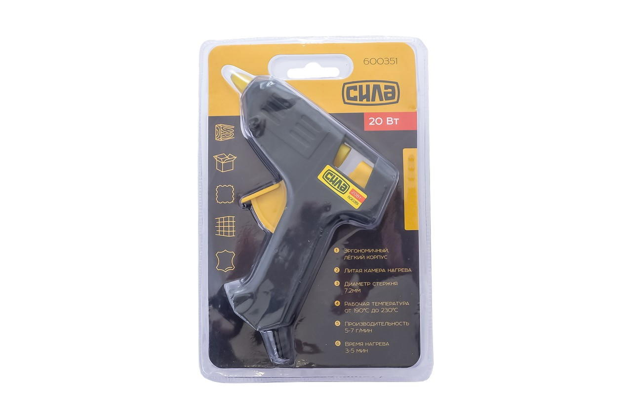 Пистолет клеевой Сила - 7,2 мм x 20 Вт 1