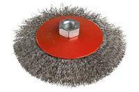 Щетка конусная Miol - 125 мм рифленая