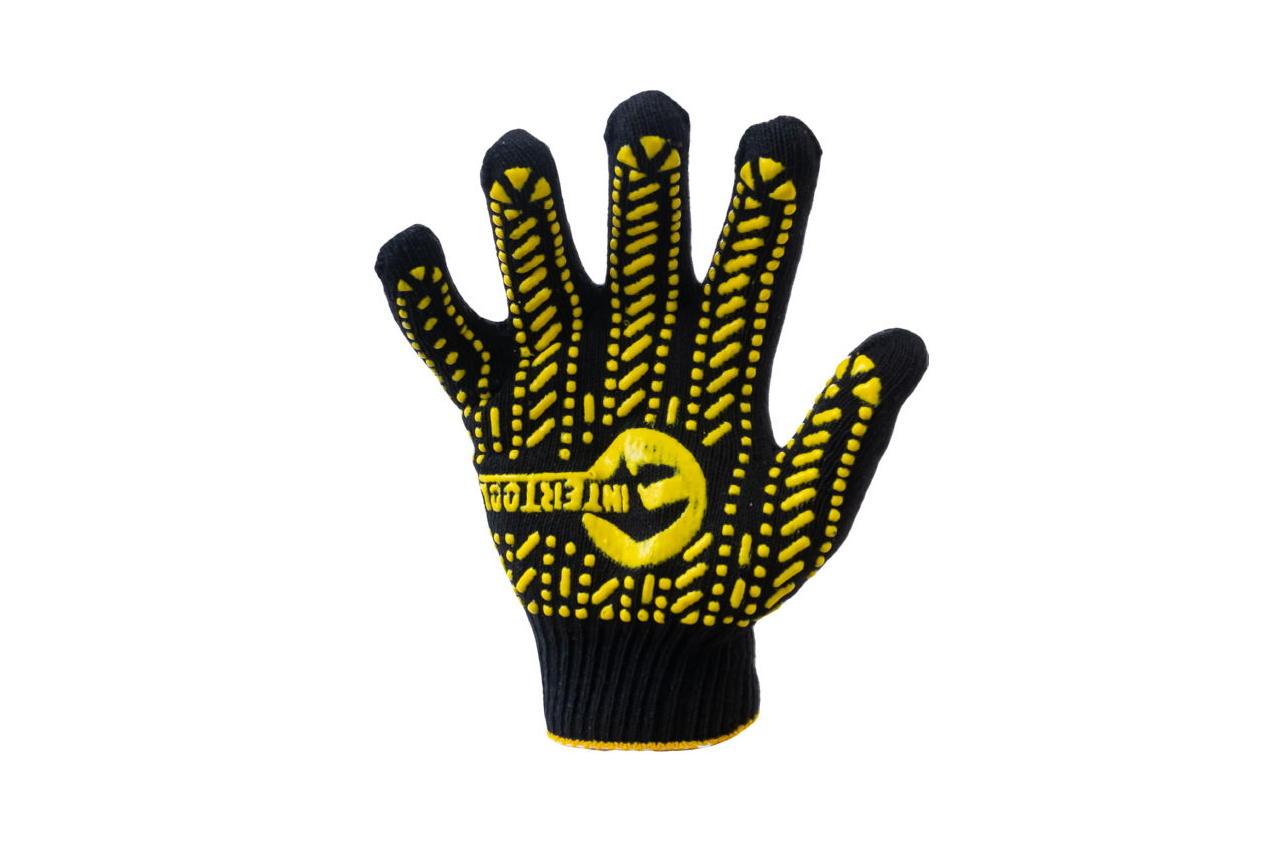 Перчатки Intertool - 60/40 с точкой 90 г черные 10 SP-0128 1