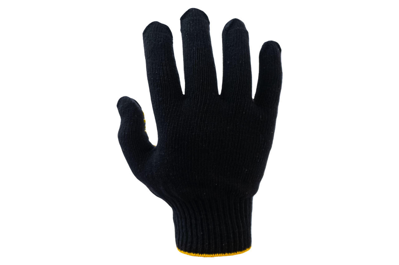 Перчатки Intertool - 60/40 с точкой 90 г черные 10 SP-0128 2