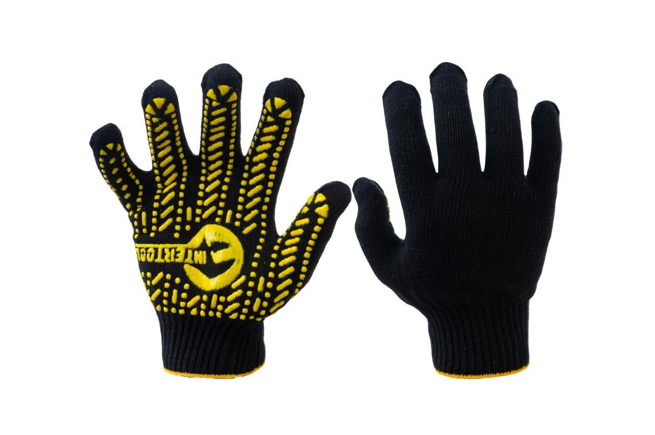 Перчатки Intertool - 60/40 с точкой 90 г черные 10 SP-0128 3