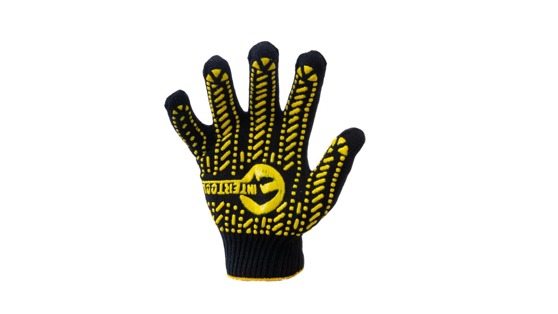 Перчатки Intertool - 60/40 с точкой 90 г черные 10 SP-0128 4