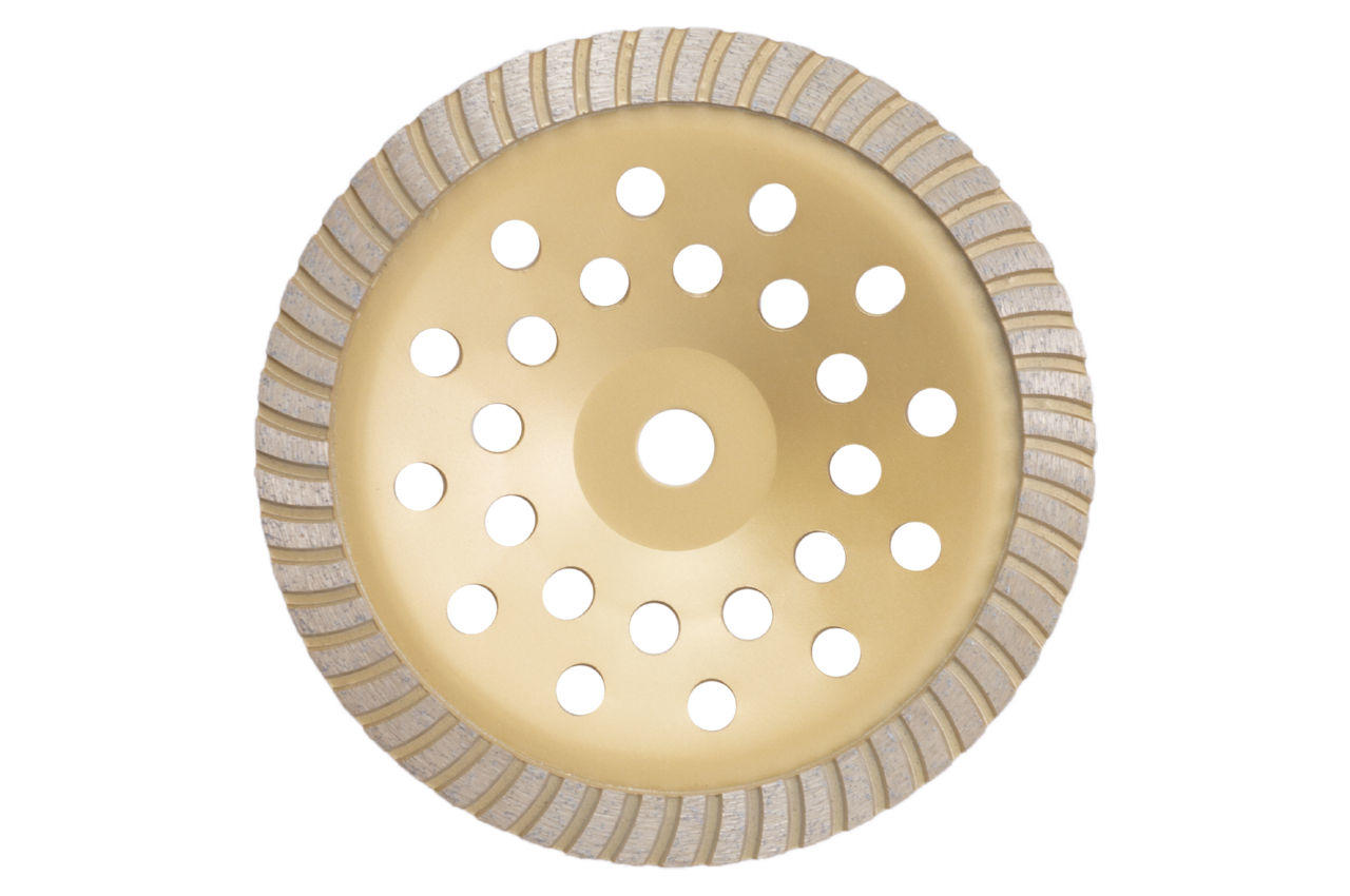 Чашка алмазная Рамболд - 230 x 22,2 мм турбо желтая 1