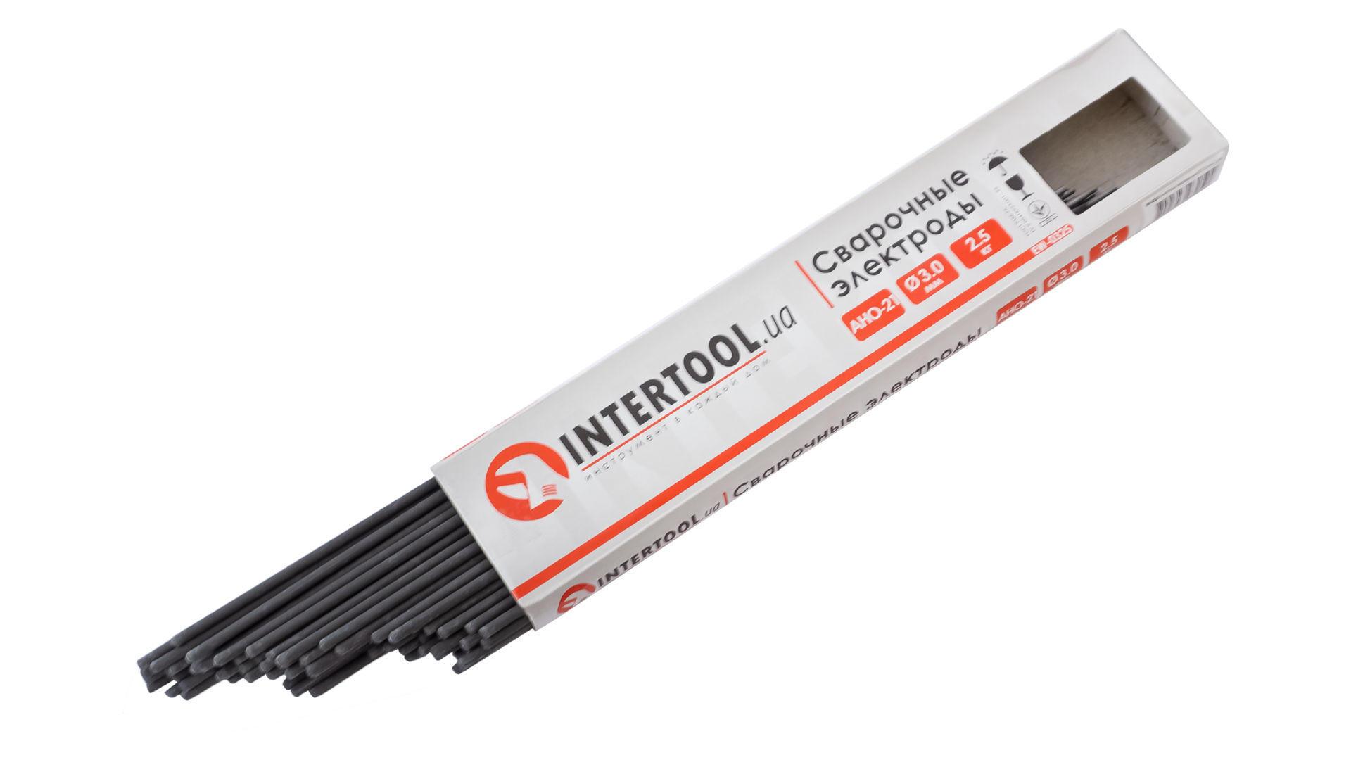 Электроды сварочные Intertool - 3 мм x 1 кг АНО-21 5