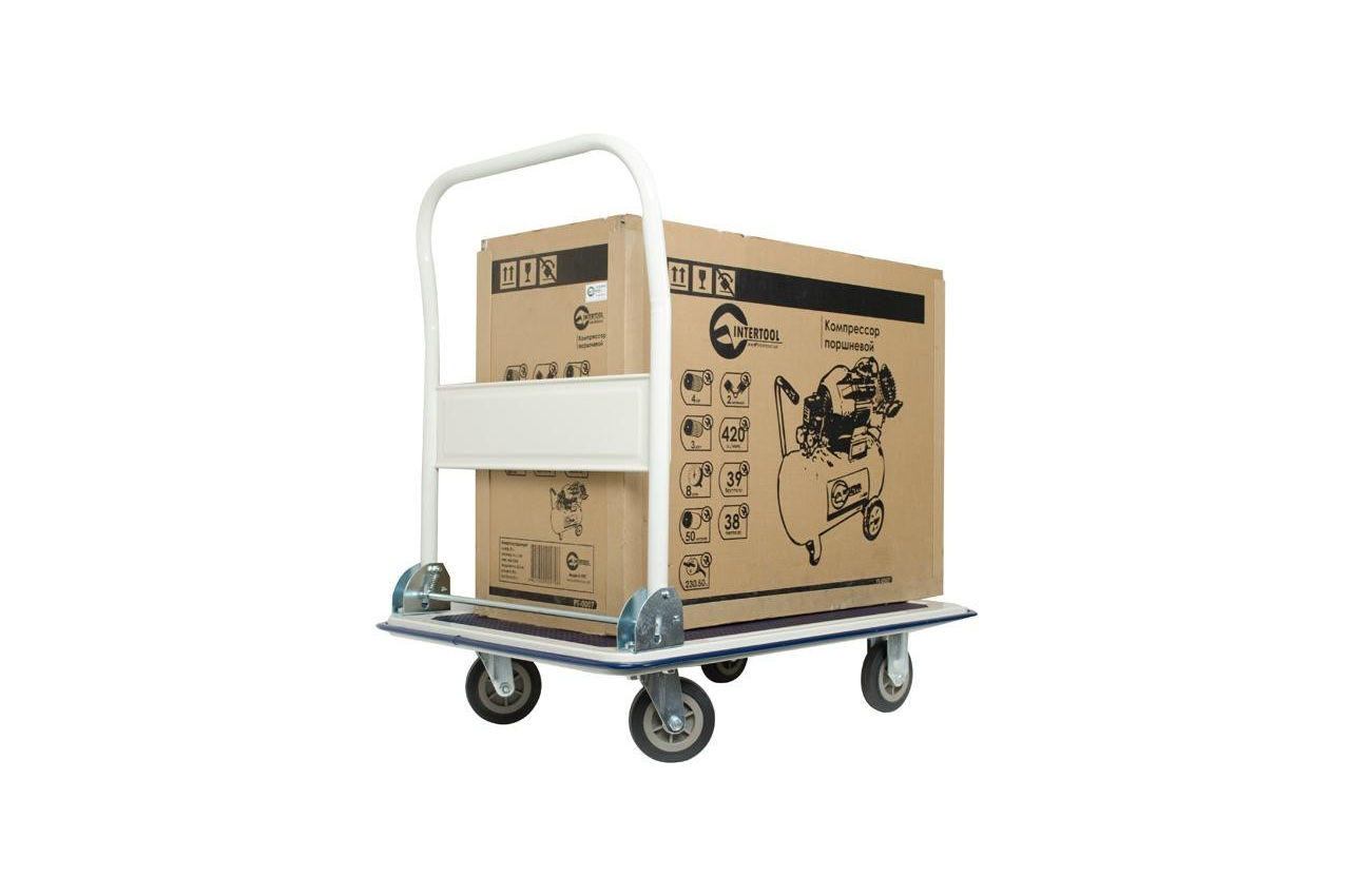 Тележка ручная Intertool - 910 x 610 x 870 мм x 250 кг 2