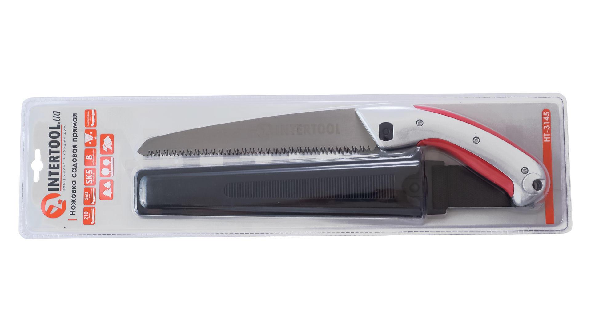 Ножовка садовая Intertool - 210 мм x 8 T x 1 x 3D 8