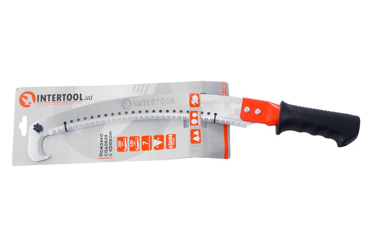 Ножовка садовая Intertool - 350 мм x 7 T x 1 x 3D с крюком 3