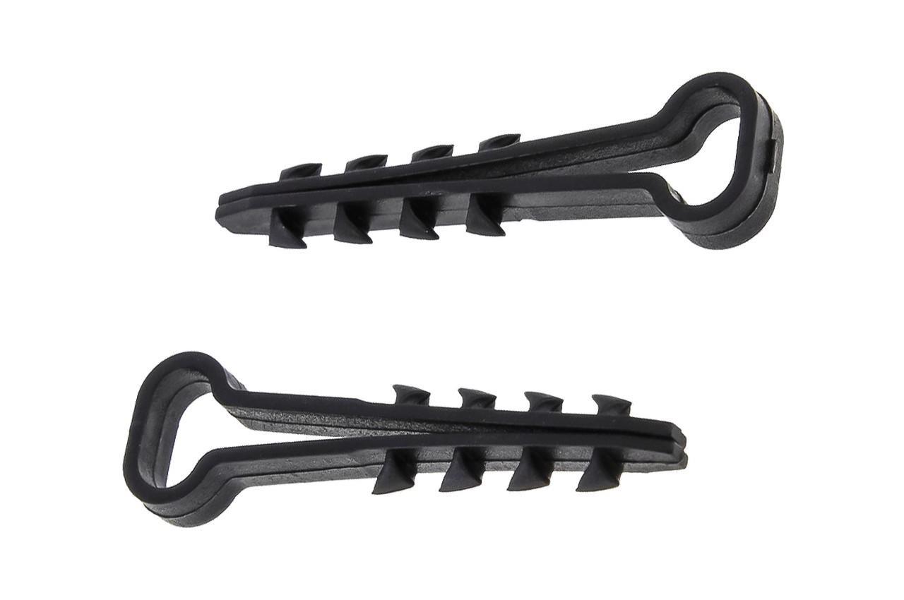 Дюбель-елочка Apro - 6 x 3 мм плоская черная (100 шт.) 1