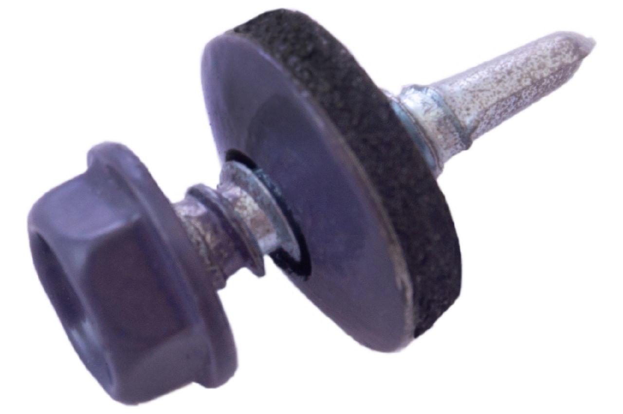 Саморез кровельный Apro - 4,8 x 19 мм RAL 7024 (50 шт.) 1