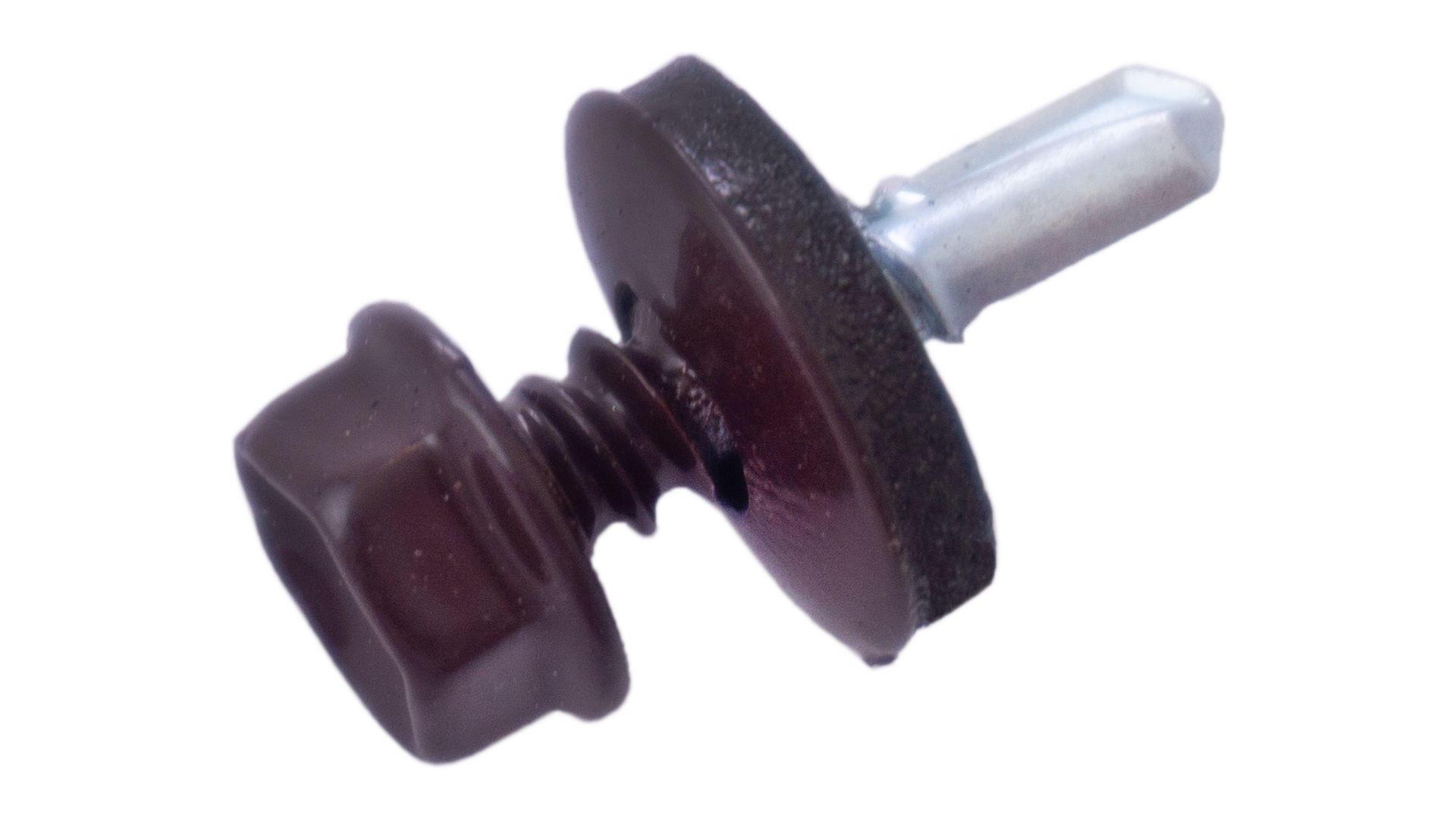 Саморез кровельный Apro - 4,8 x 19 мм RAL 8017 (50 шт.) 4