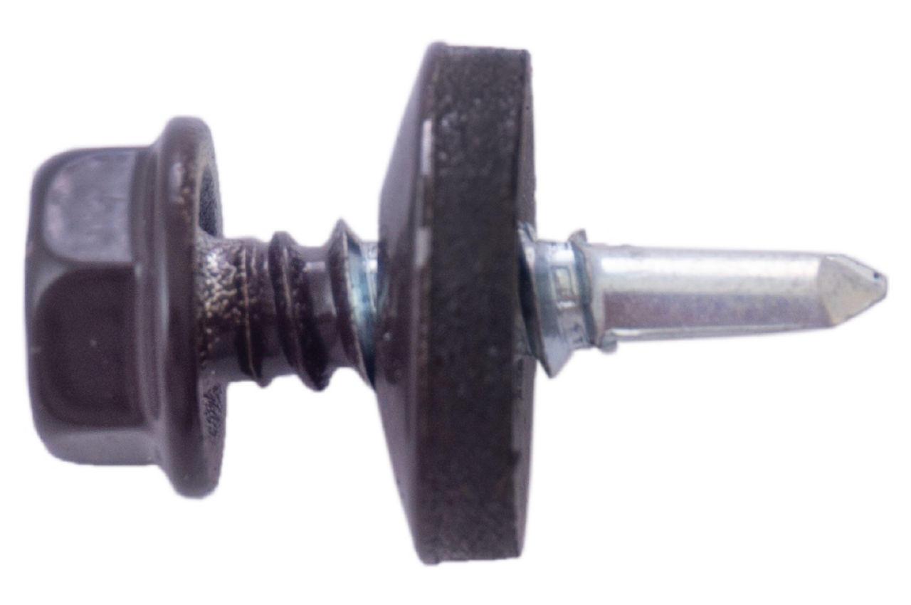 Саморез кровельный Apro - 4,8 x 19 мм RAL 8019 (50 шт.) 2