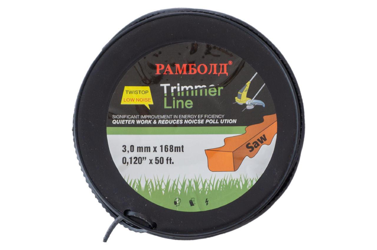 Леска для три ммера Рамболд - 3,0 мм x 168 м пила без жилы 1