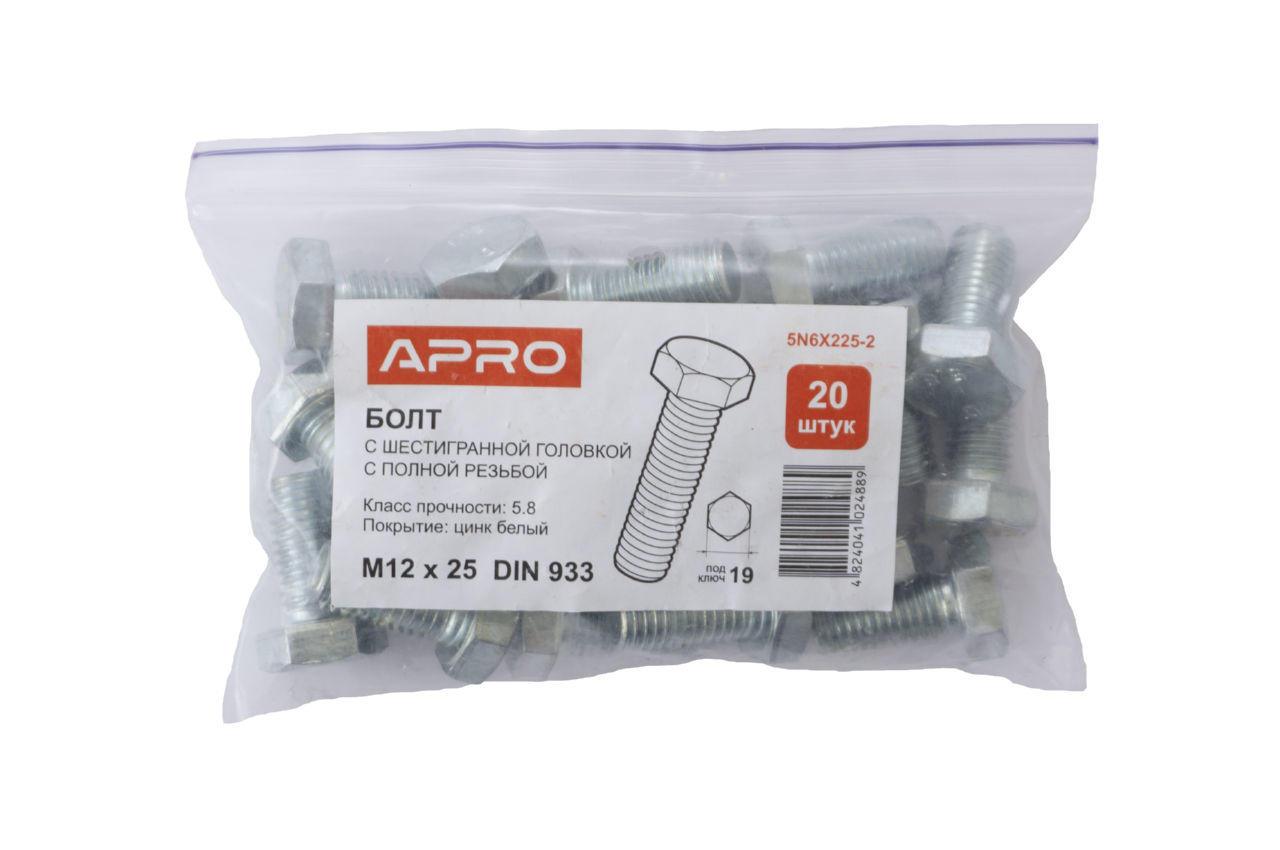 Болт шестигранный Apro - 12 x 25 мм DIN 933 (20 шт.) 2
