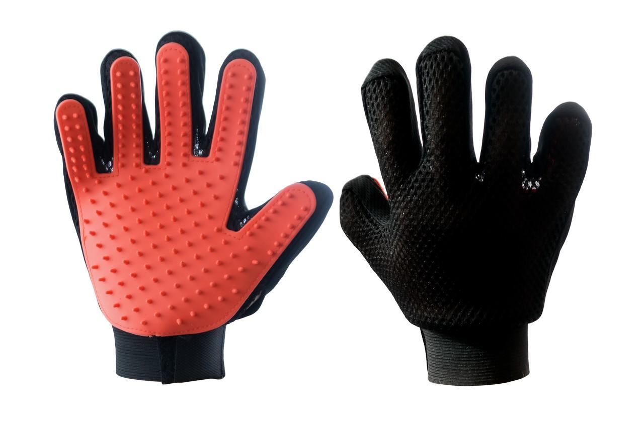 Перчатка для вычесывания шерсти PRC - True Touch на правую руку 3